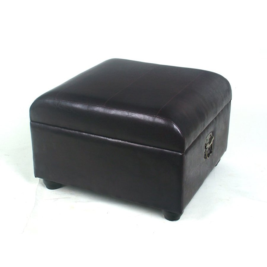 International Caravan Black Rectangle Storage Ottoman