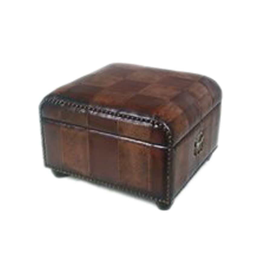 International Caravan Mix Pattern Rectangle Storage Ottoman