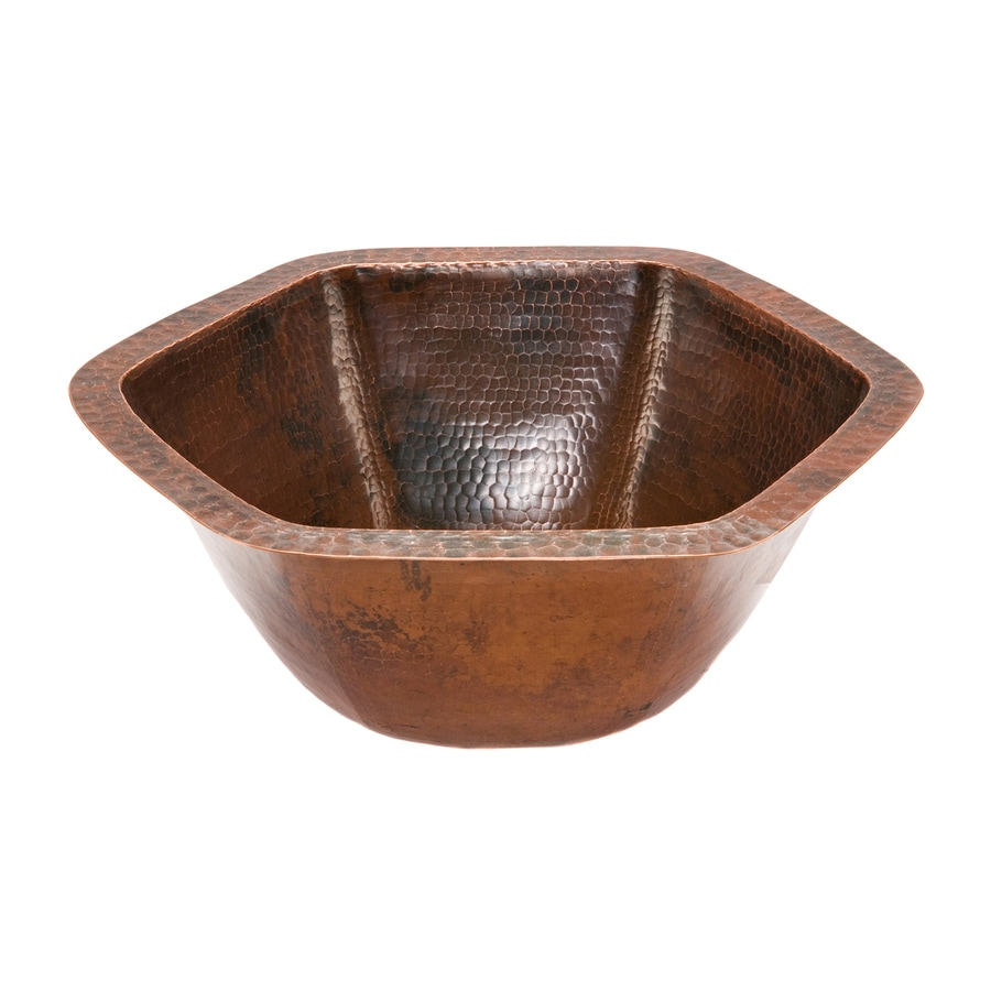 Copper Bathroom Sinks : ... -Rubbed Bronze Copper Undermount Hexagonal Bathroom Sink at Lowes.com