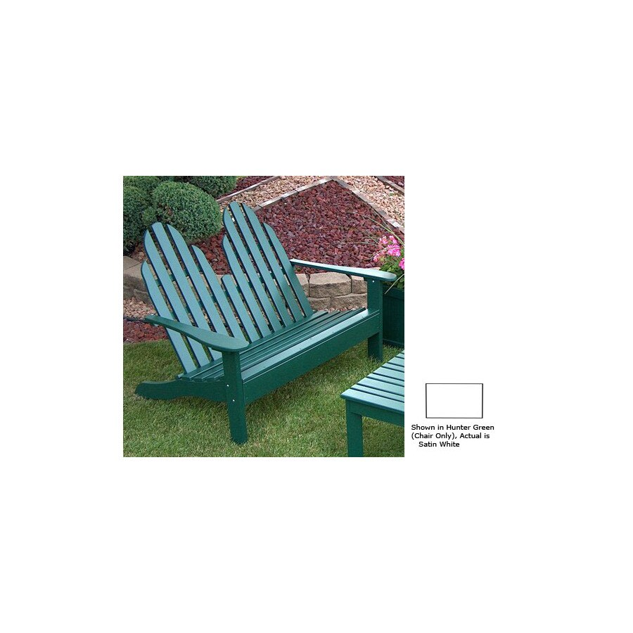 Prairie Leisure Design 35-in W x 50-in L Satin White Pine Patio Bench