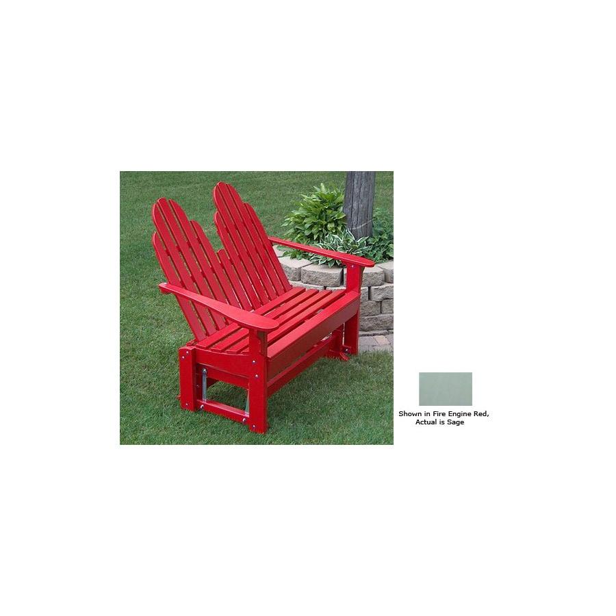 Prairie Leisure Design 35-in W x 50-in L Sage Pine Patio Bench
