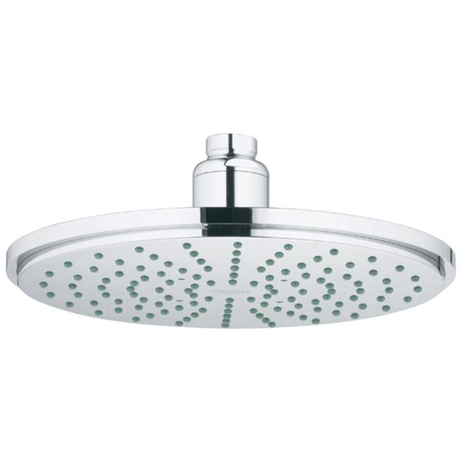 GROHE Rainshower 8-in 2.5-GPM (9.5-LPM) Chrome 1-Spray Rain Showerhead