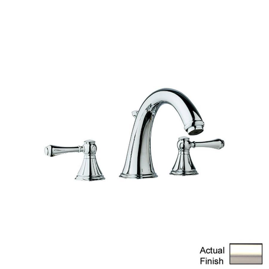 GROHE Geneva Polished Nickel 2-Handle Adjustable Deck Mount Tub Faucet