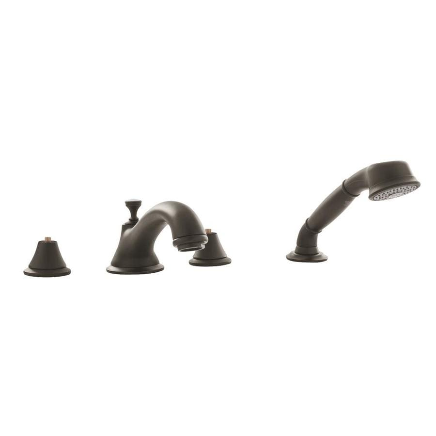 GROHE Seabury Oil-Rubbed Bronze 2-Handle Fixed Deck Mount Bathtub Faucet