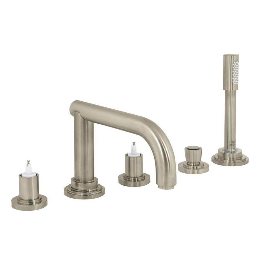 GROHE Atrio Brushed Nickel 2-Handle Fixed Deck Mount Bathtub Faucet