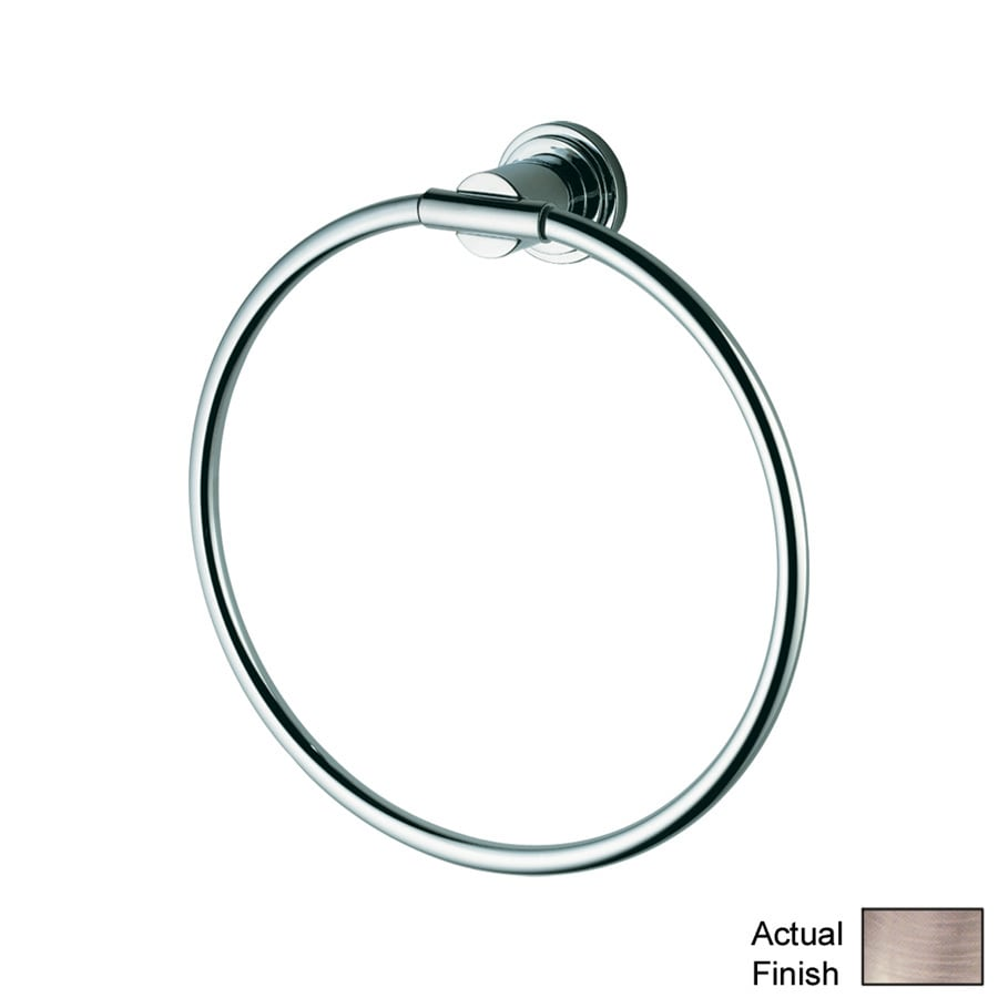 GROHE Atrio Brushed Nickel Wall Mount Towel Ring