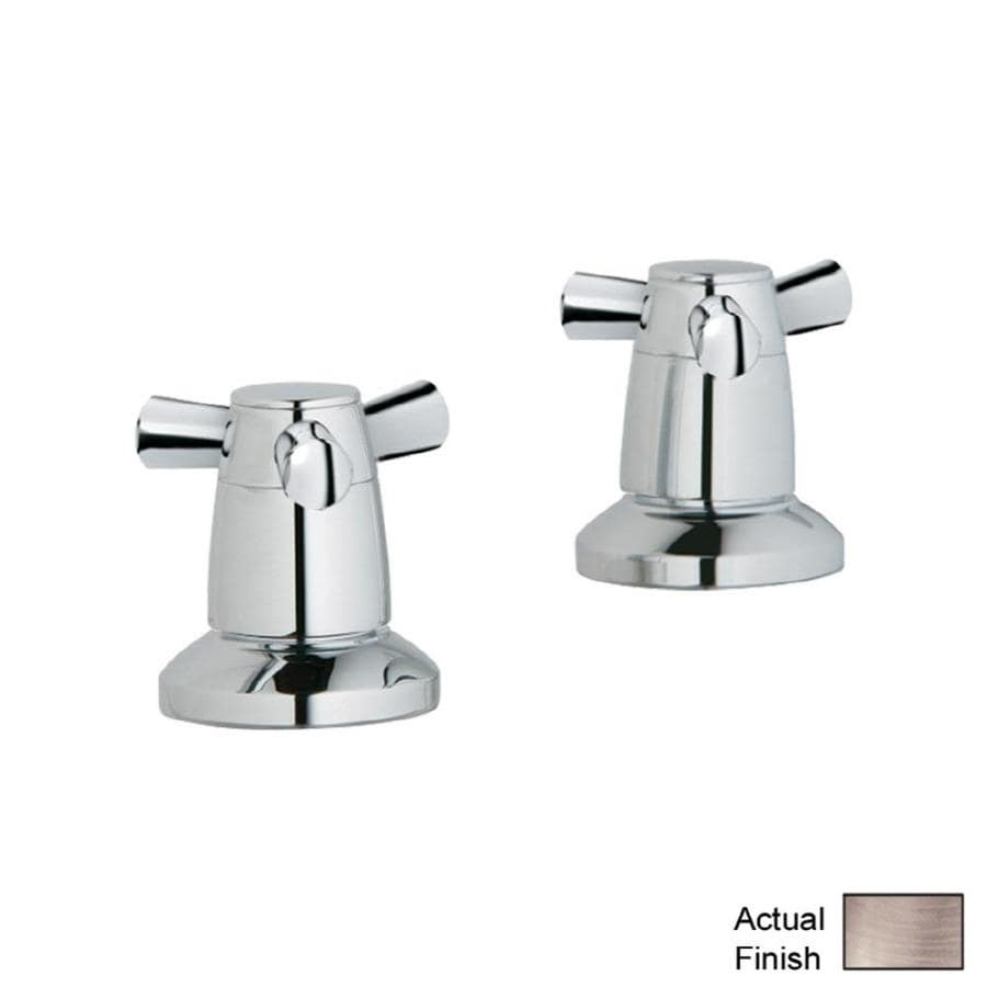 shop grohe 2 pack brushed nickel faucet or bathtub shower handles at