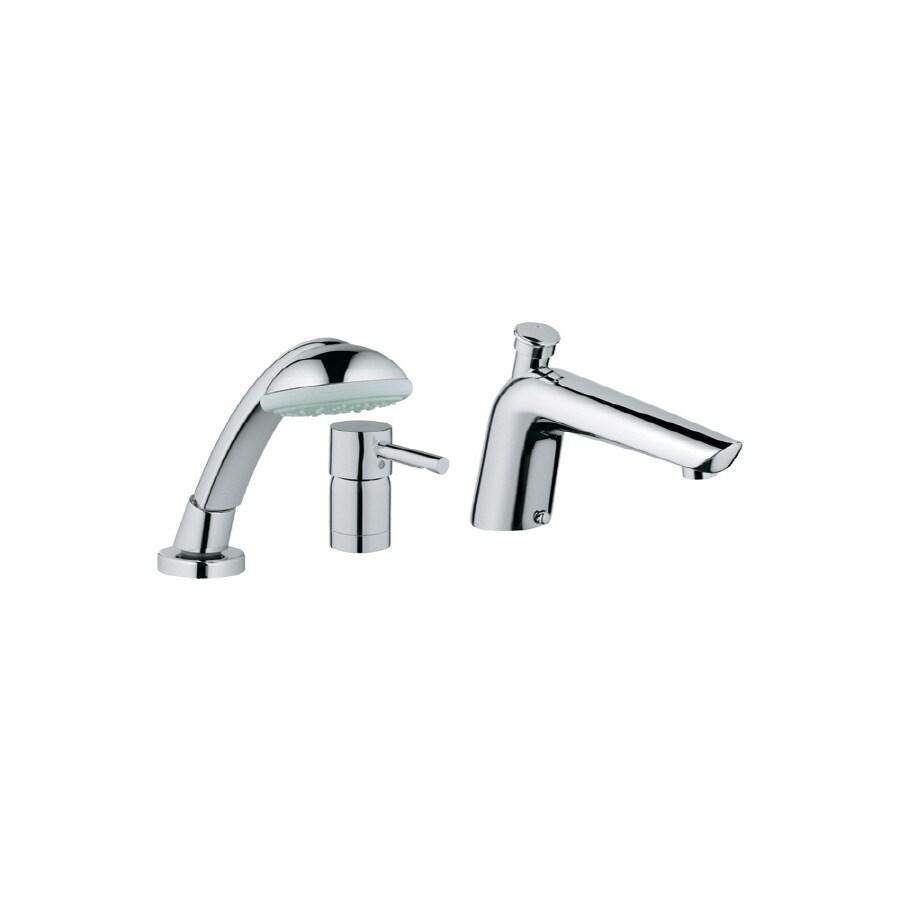 GROHE Essence Starlight Chrome 1-Handle Adjustable Deck Mount Tub Faucet