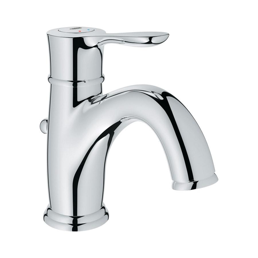 GROHE Parkfield Starlight Chrome 1-Handle Single Hole Bathroom Faucet (Drain Included)