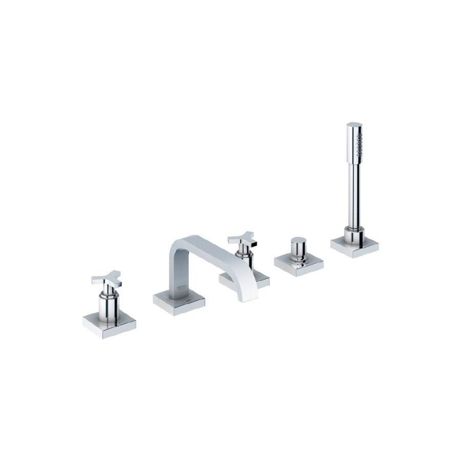 GROHE Allure Chrome 2-Handle Adjustable Deck Mount Tub Faucet
