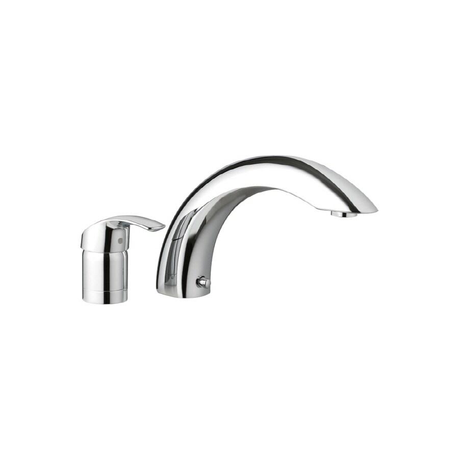 GROHE Eurosmart Chrome 1-Handle Adjustable Deck Mount Bathtub Faucet