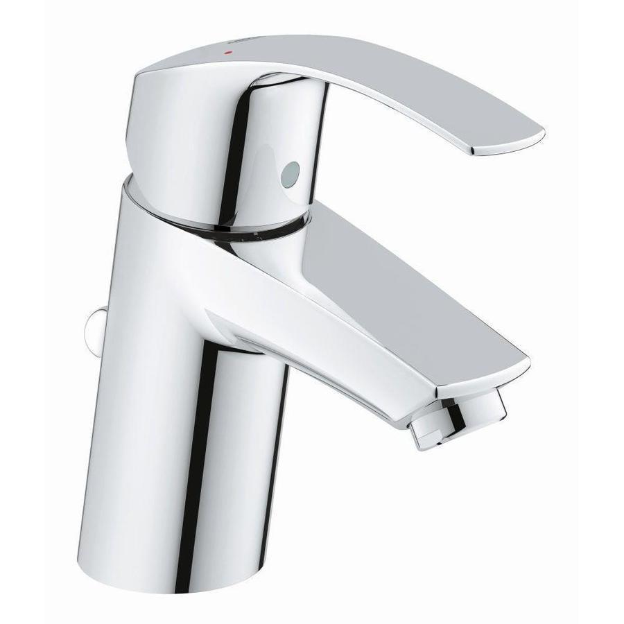 GROHE Eurosmart Chrome 1-Handle Single Hole WaterSense Bathroom Faucet (Drain Included)