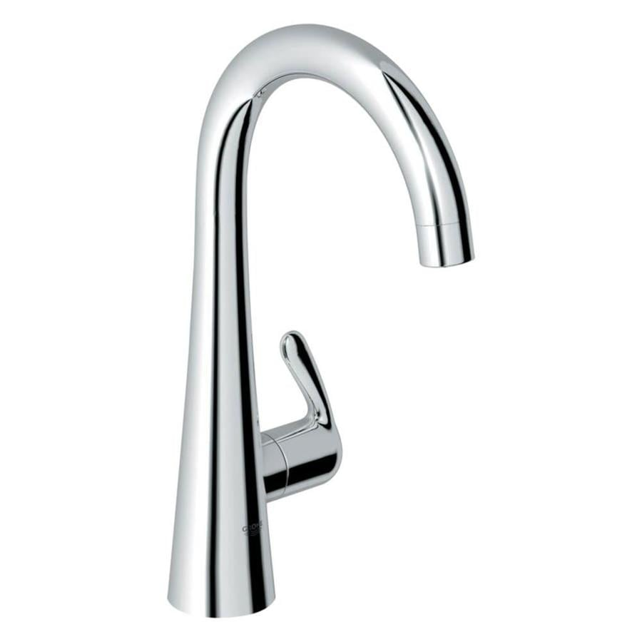 Shop grohe ladylux starlight chrome 1 handle high arc for Grohe faucets
