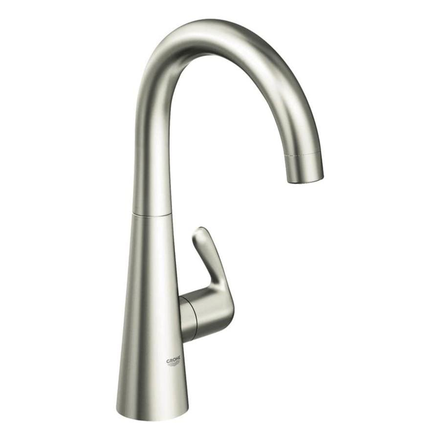GROHE Ladylux Supersteel 1-Handle High-Arc Kitchen Faucet