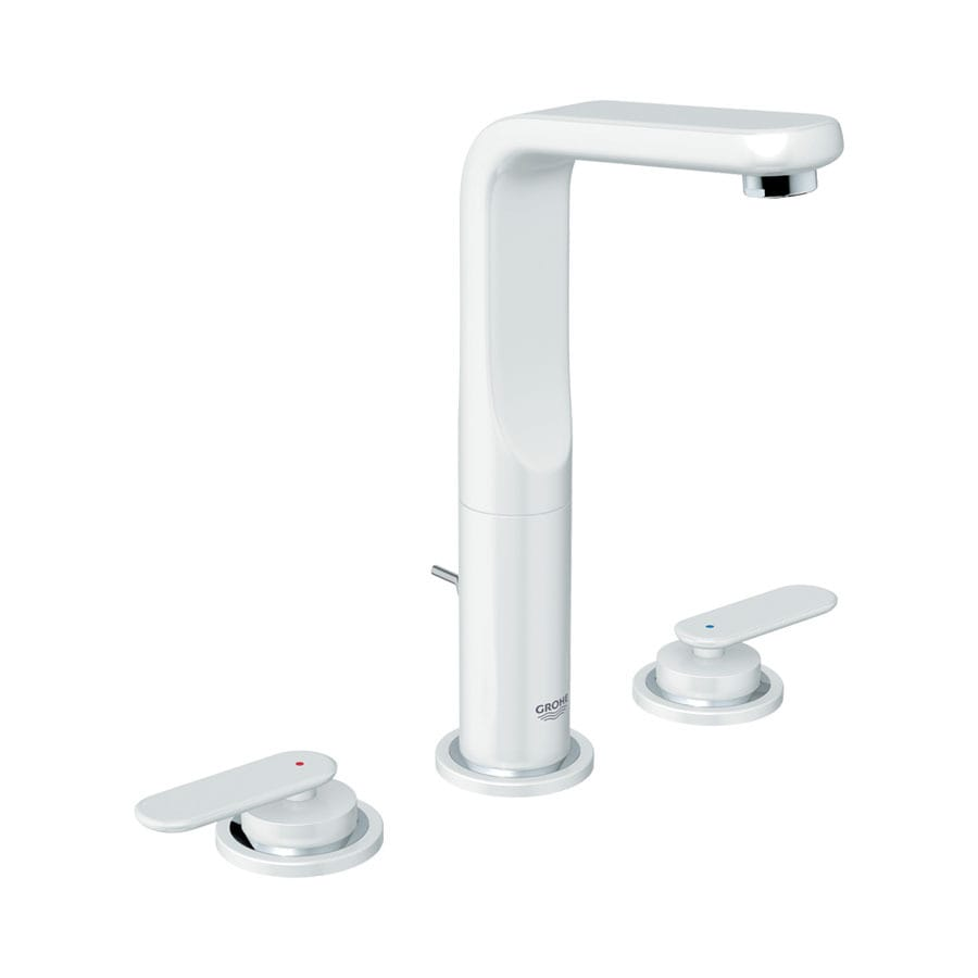 GROHE Ondus Veris Moon White 2-Handle Widespread WaterSense Bathroom Sink Faucet (Drain Included)