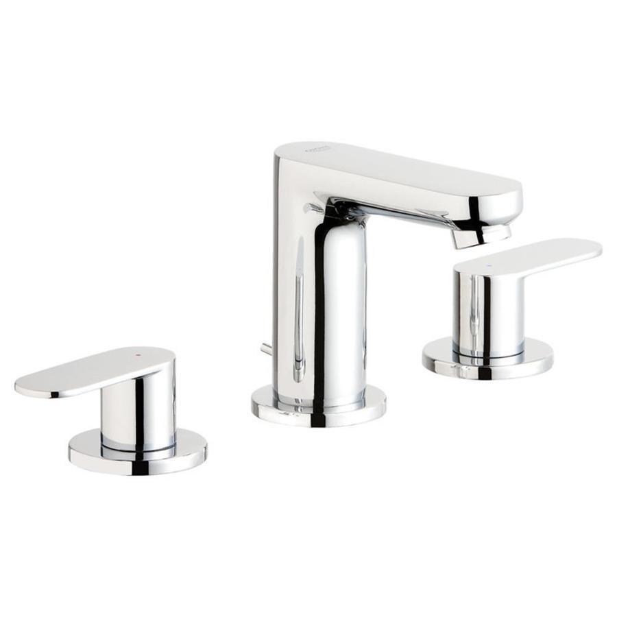Shop Grohe Eurosmart Cosmopolitan Chrome 2 Handle Widespread Watersense Bathroom Faucet Drain