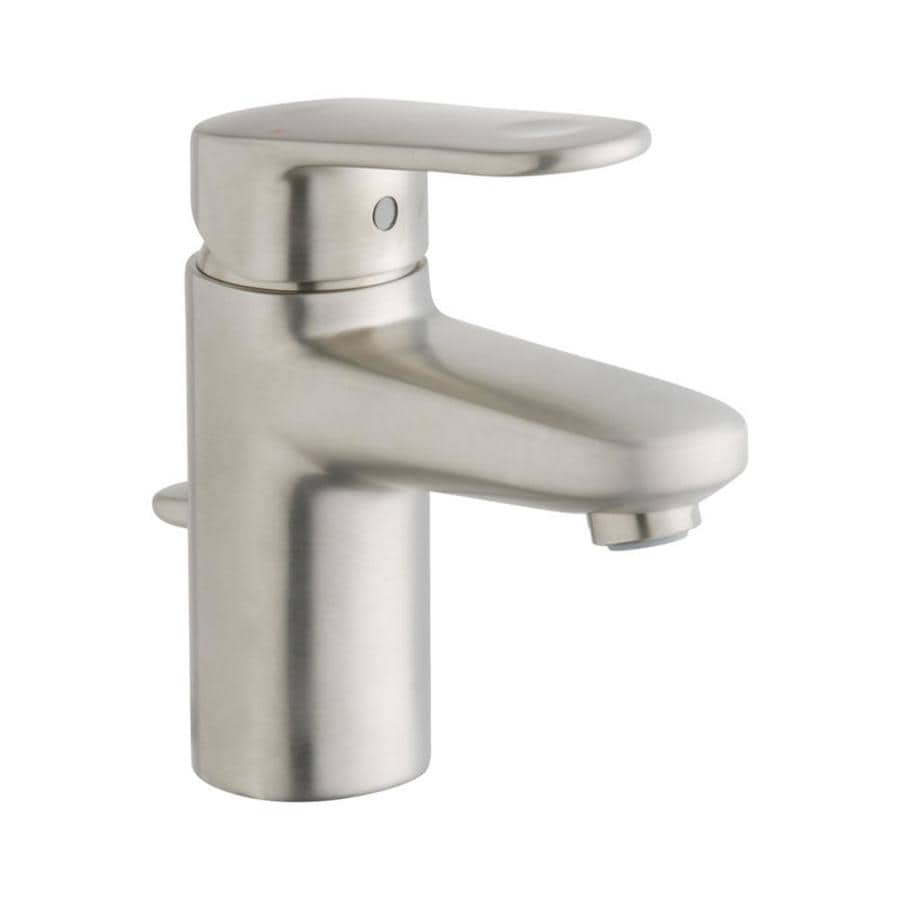 Shop Grohe Europlus Brushed Nickel 1 Handle Single Hole Watersense Bathroom Faucet Drain