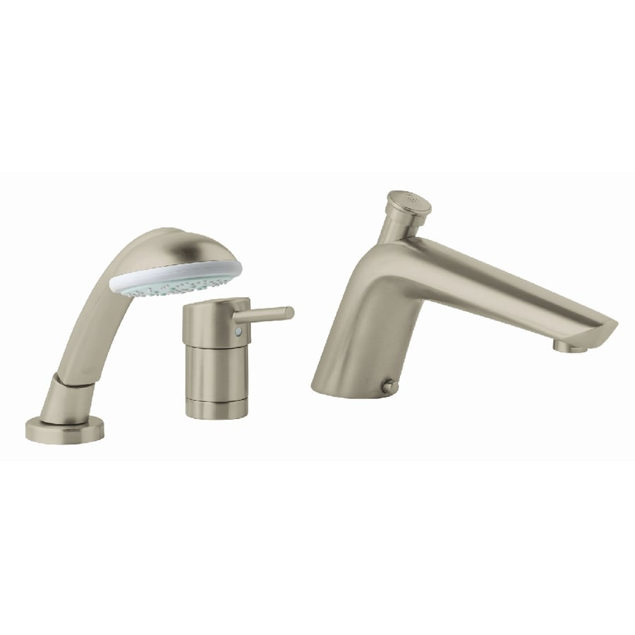 Essence Nickel 1-Handle Adjustable Deck Mount Bathtub Faucet Product Photo