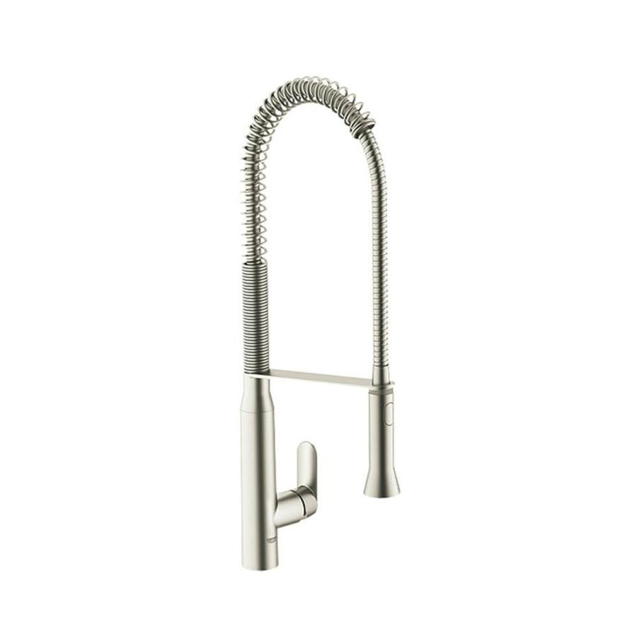 GROHE K7 Supersteel 1-Handle High-Arc Kitchen Faucet