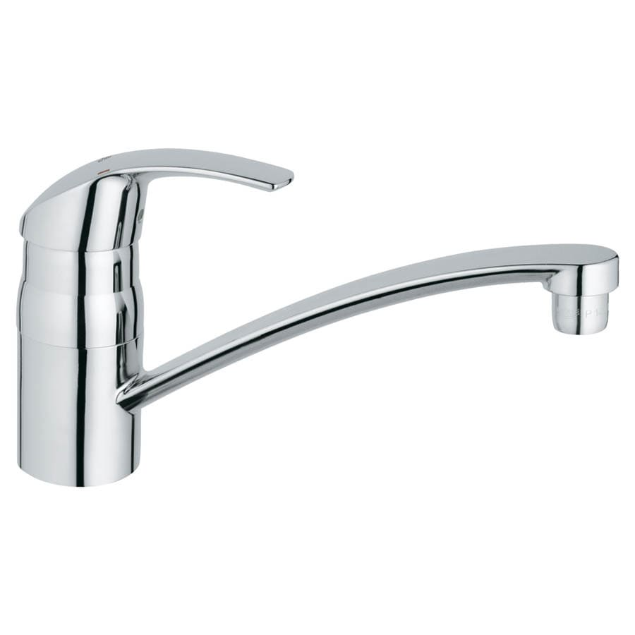 Shop Grohe Eurosmart Starlight Chrome 1 Handle Low Arc Kitchen Faucet At