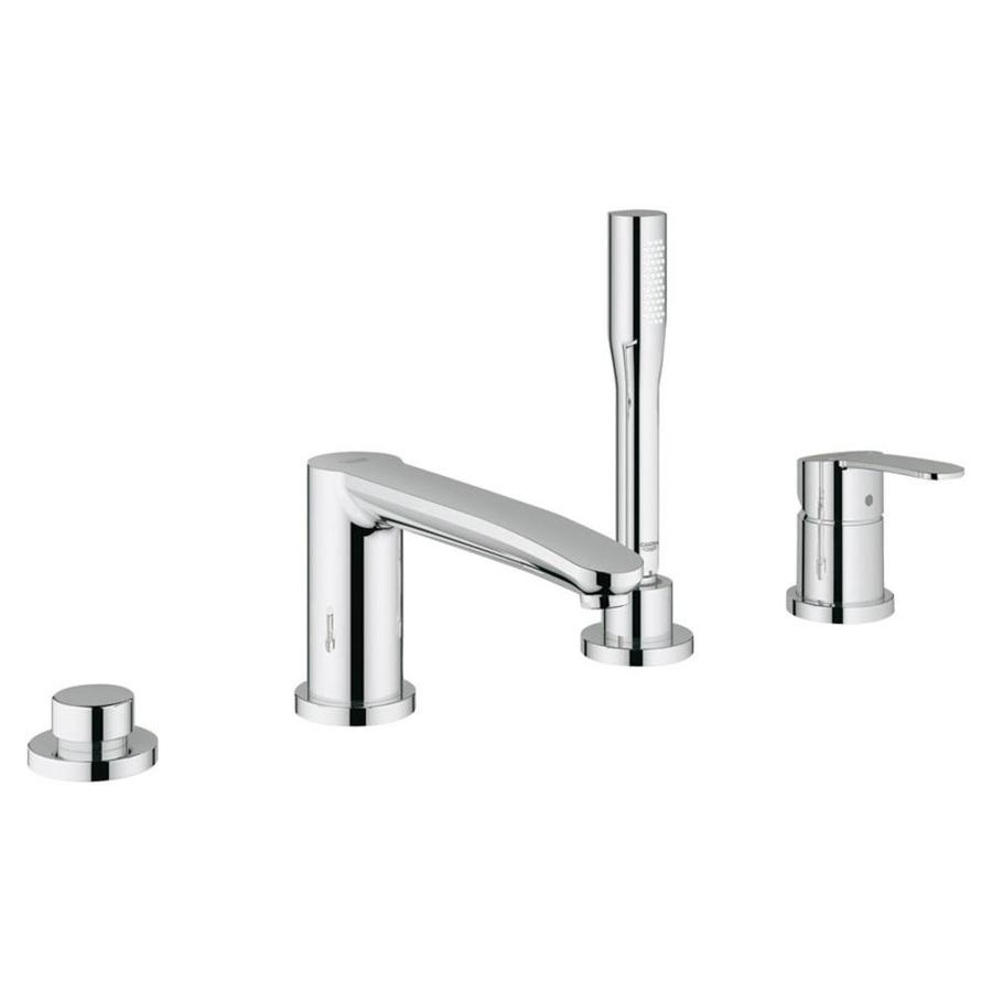 GROHE Eurosmart Cosmopolitan Starlight Chrome 1-Handle Adjustable Deck Mount Tub Faucet