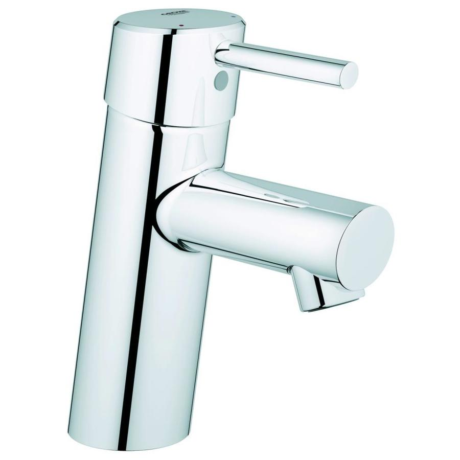 GROHE Concetto New Starlight Chrome 1-Handle Single Hole WaterSense Bathroom Faucet