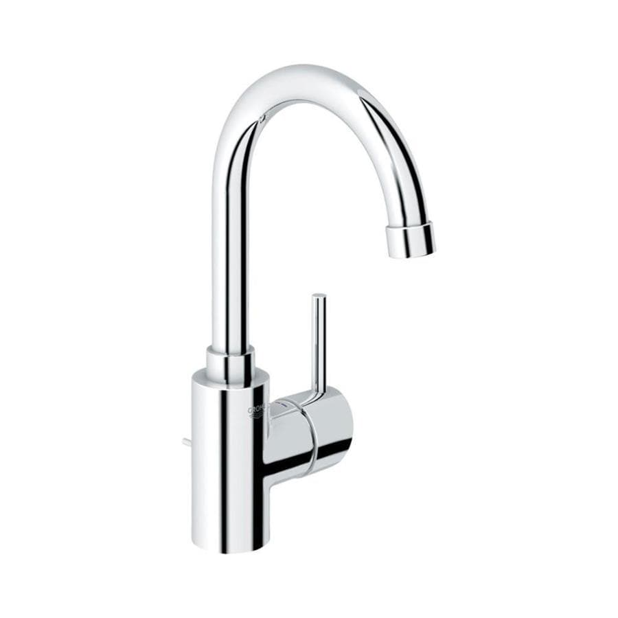 shop grohe concetto starlight chrome 1 handle single hole watersense bathroom faucet drain. Black Bedroom Furniture Sets. Home Design Ideas