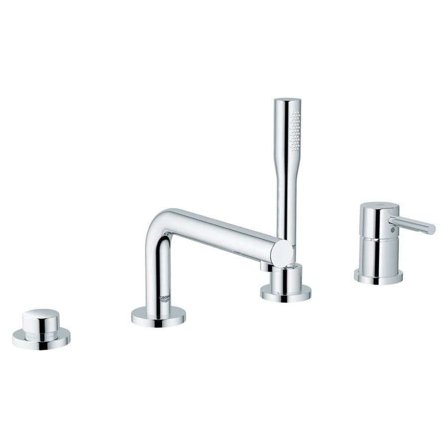 shop grohe essence chrome 1 handle adjustable deck mount tub faucet at. Black Bedroom Furniture Sets. Home Design Ideas