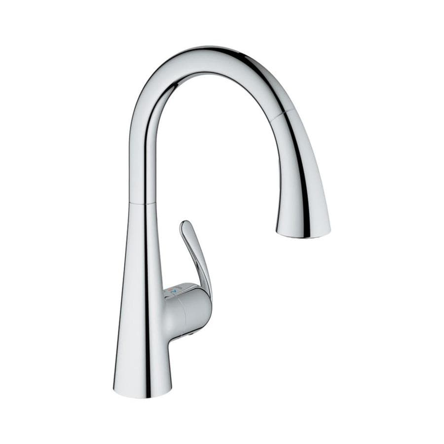 GROHE Ladylux Starlight Chrome 1-Handle Pull-Down Kitchen Faucet
