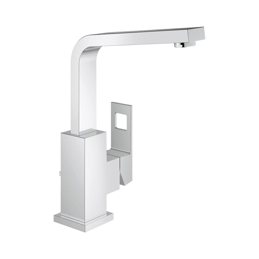 GROHE Eurocube Starlight Chrome 1-Handle Single Hole WaterSense Bathroom Faucet (Drain Included)