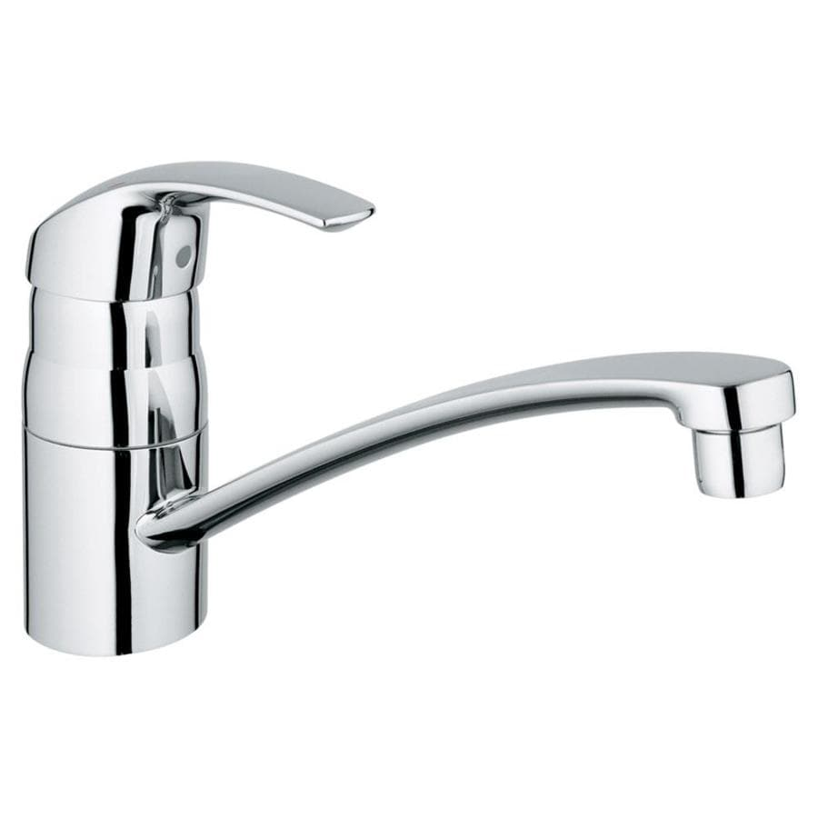 shop grohe eurosmart starlight chrome 1 handle low arc kitchen faucet at. Black Bedroom Furniture Sets. Home Design Ideas