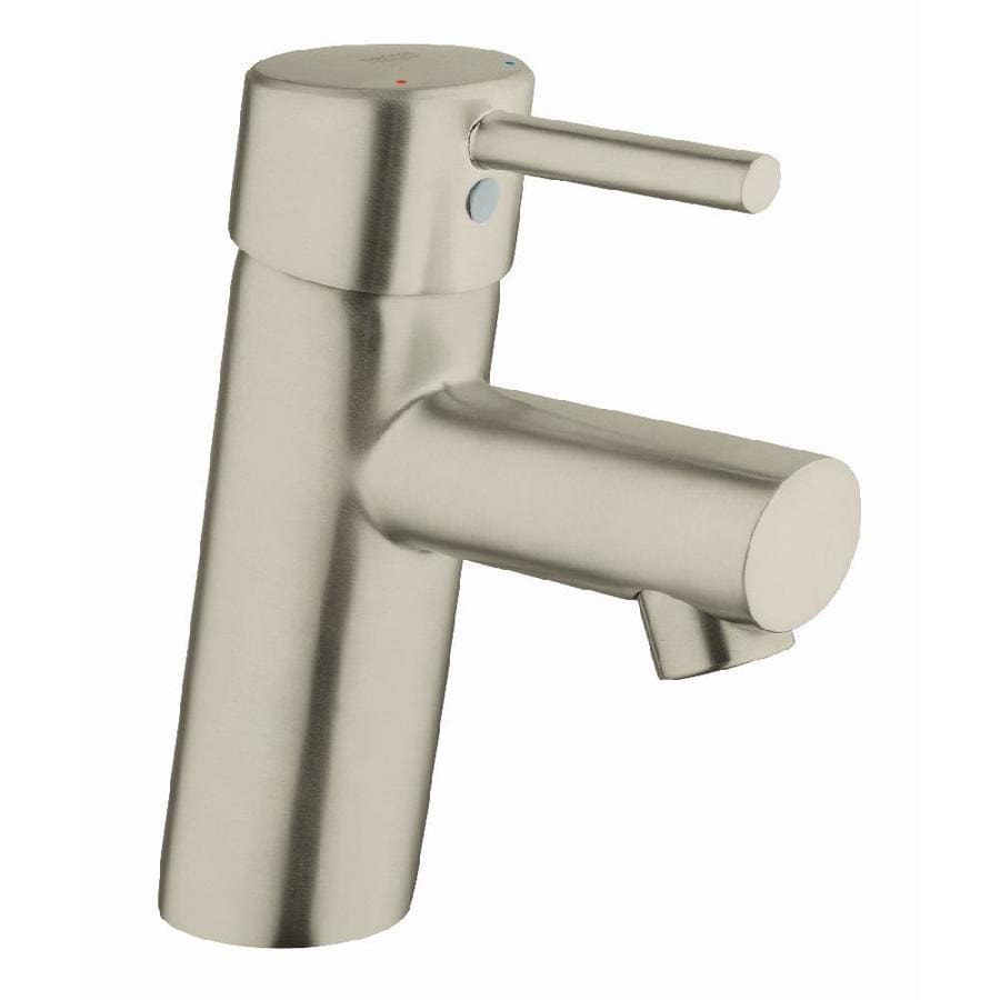 GROHE Concetto Brushed Nickel 1-Handle 4-in Centerset WaterSense Bathroom Faucet