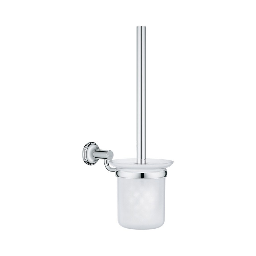 GROHE Essentials Authentic Starlight Chrome Brass Toilet Brush Holder
