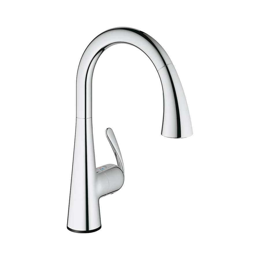 GROHE LadyLux3 Cafe Touch Starlight Chrome 1-Handle Pull-Down Touch Kitchen Faucet