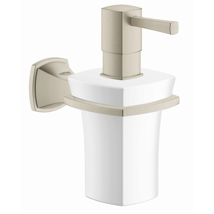 GROHE Grandera Brushed Nickel Infinity Soap and Lotion Dispenser