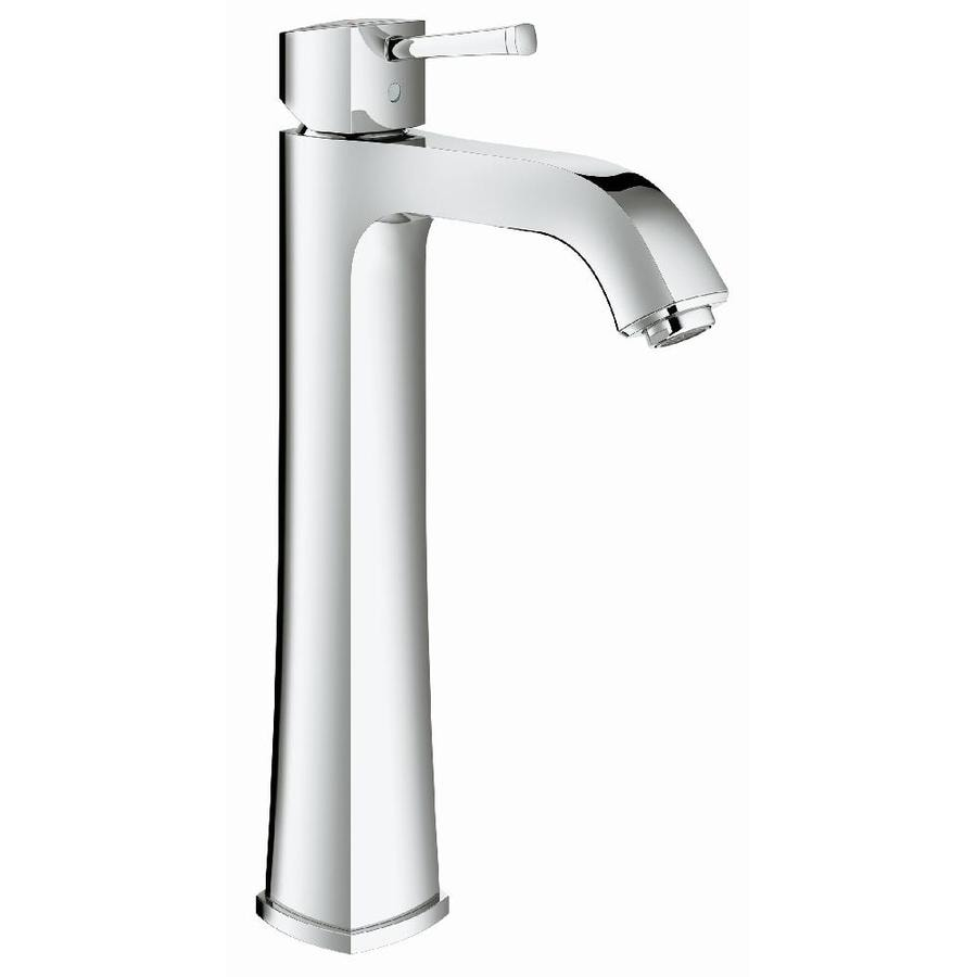 GROHE Grandera Starlight Chrome 1-Handle Single Hole WaterSense Bathroom Faucet