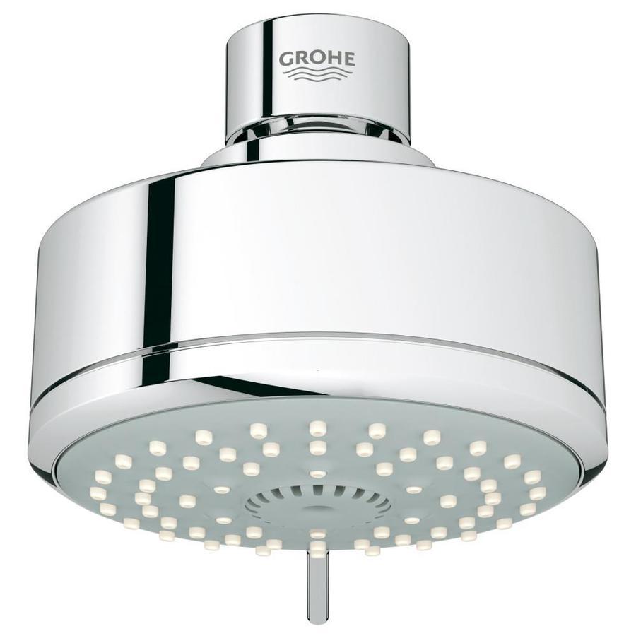 GROHE New Tempesta Cosmopolitan IV 4-in 2.0-GPM (7.6-LPM) Starlight Chrome 4-Spray WaterSense Showerhead