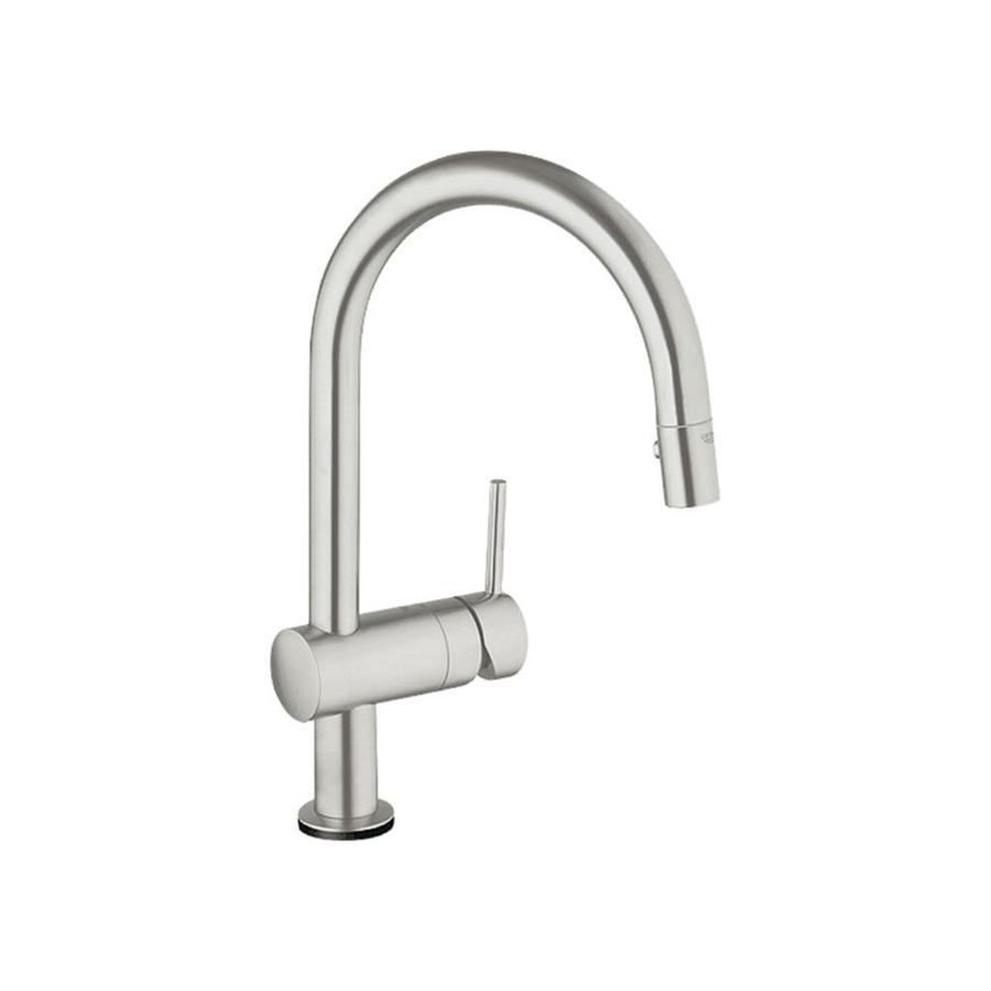 GROHE Minta Supersteel 1-Handle Pull-Down Kitchen Faucet
