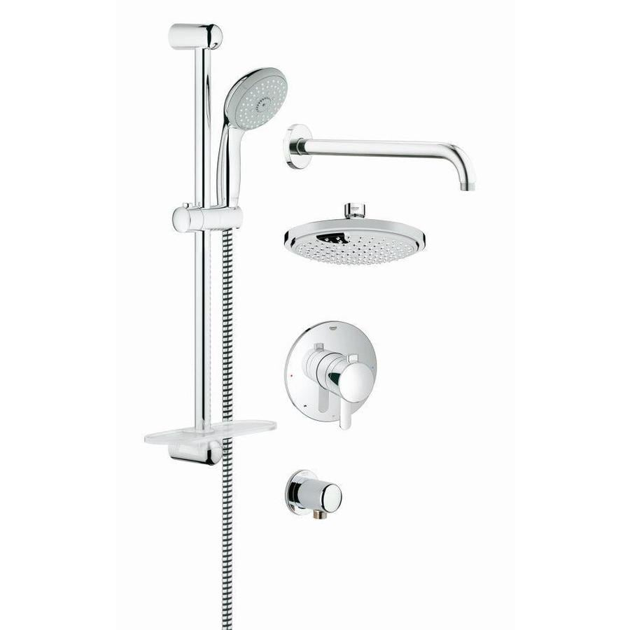 GROHE GrohFlex 7.0625-in Chrome Showerhead with Hand Showers