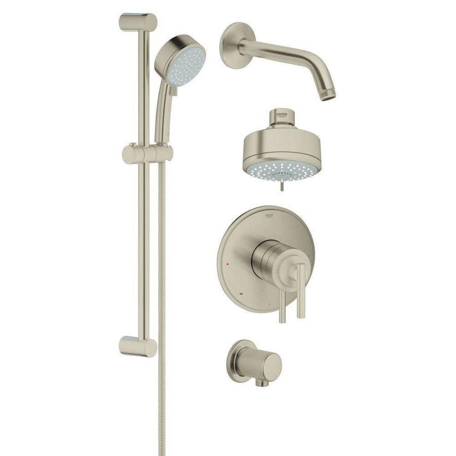 GROHE GrohFlex 3.9375-in Brushed Nickel WaterSense Showerhead with Hand Showers