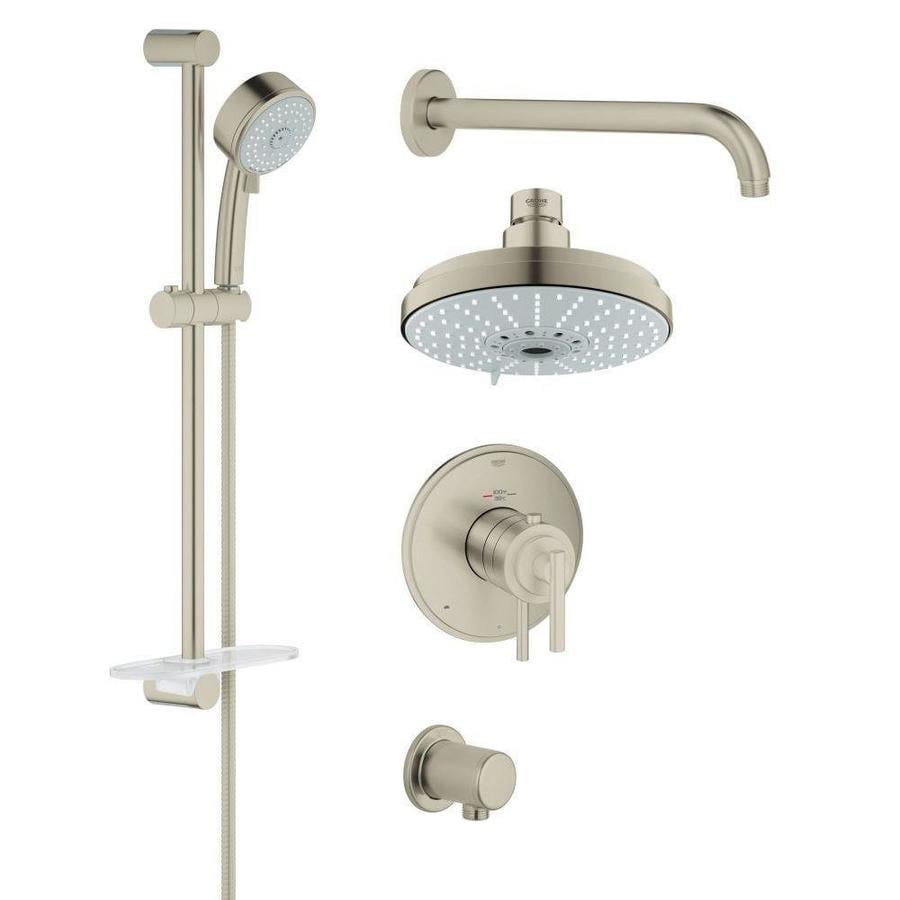 GROHE GrohFlex 6.3125-in Brushed Nickel Showerhead with Hand Showers