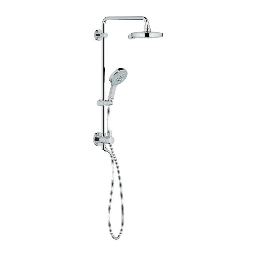 GROHE Retrofit 7.5-in Starlight Chrome Showerhead with Hand Shower