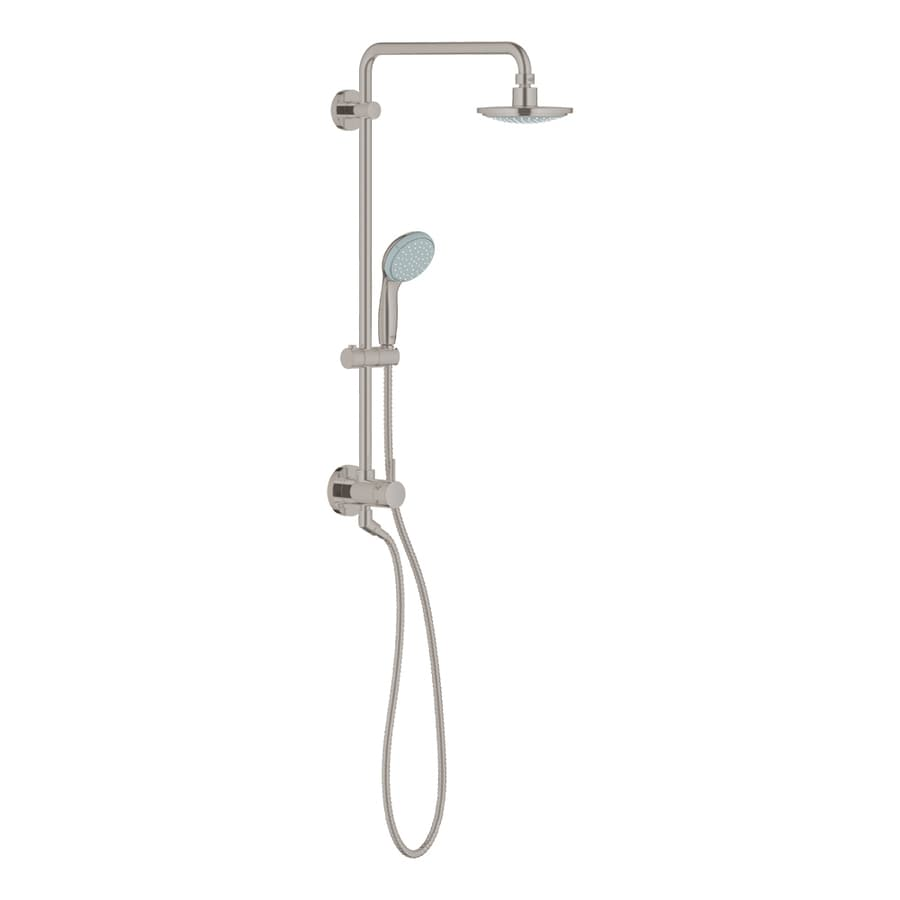GROHE Retrofit 6.3125-in Brushed Nickel Showerhead with Hand Shower