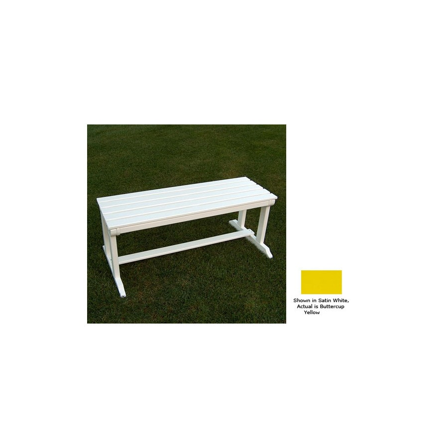 Prairie Leisure Design 18-in L Painted Wood Patio Bench