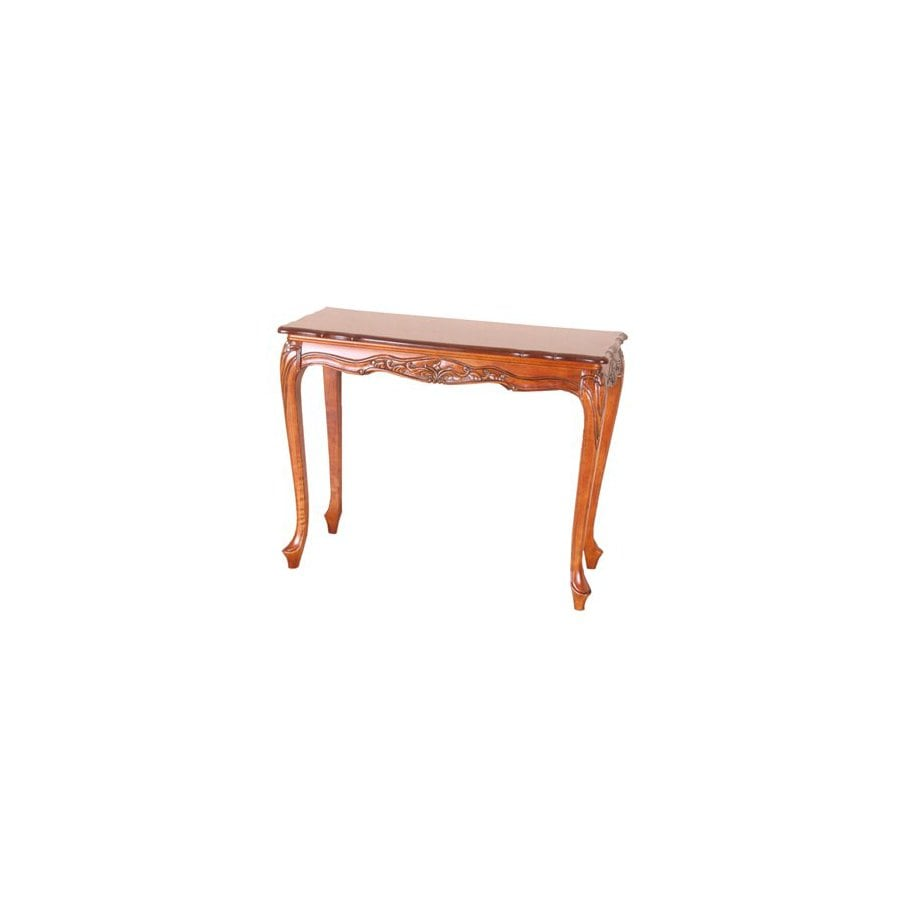 International Caravan Carved Wood Brown Rectangular Console and Sofa Table