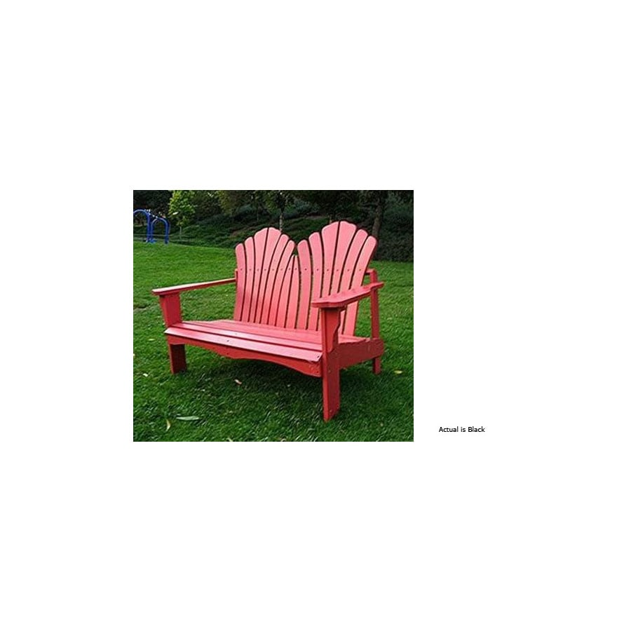 Shine Company 35.25-in L Painted Wood Patio Bench