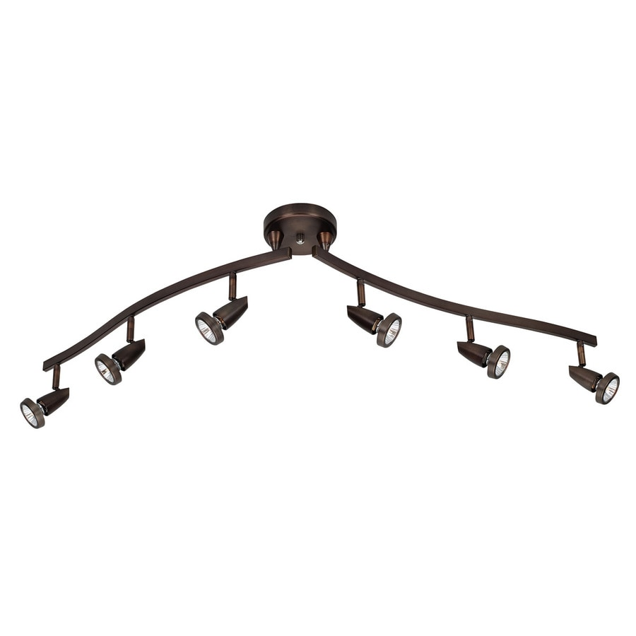 Access Lighting Mirage 6-Light 49-in Bronze Step Linear Track Lighting Kit