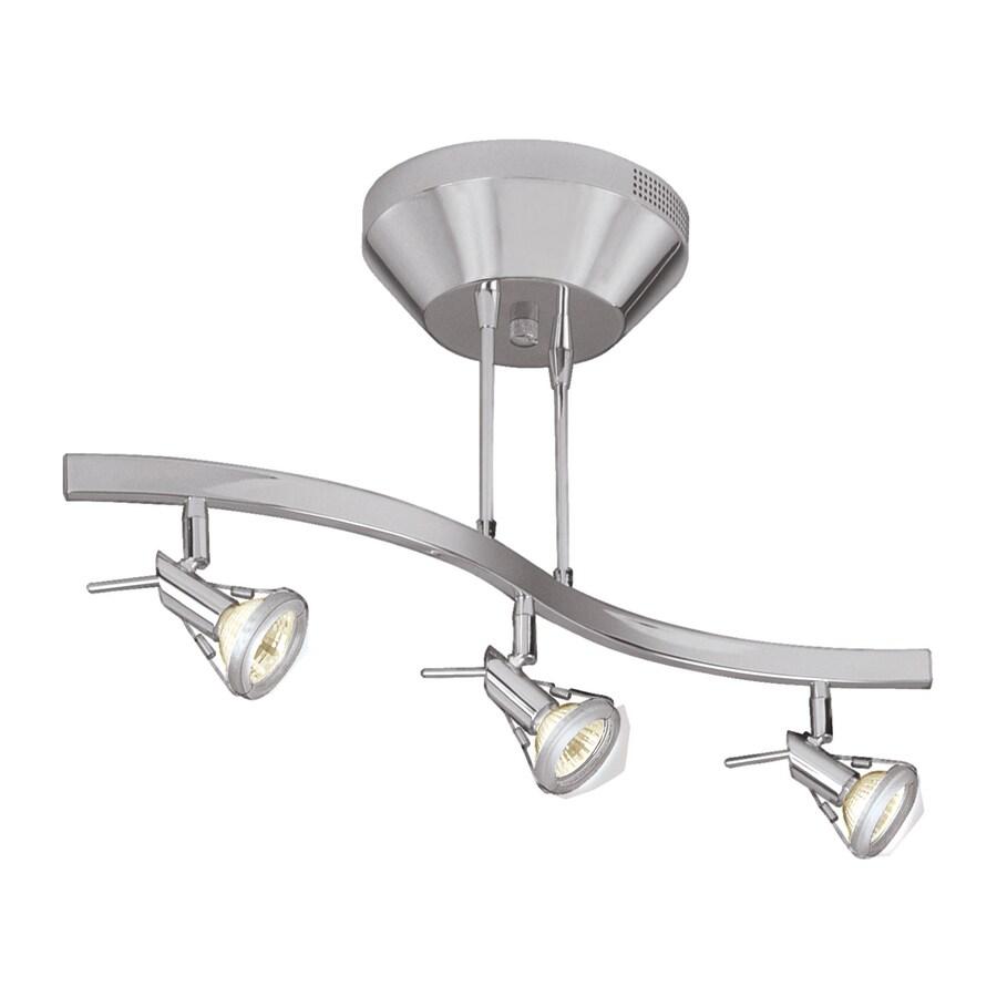 Access Lighting Versahl Spotlight 3-Light 21.7-in Matte Chrome Step Linear Track Lighting Kit