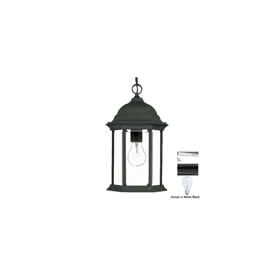 Acclaim Lighting Madison 14-in Matte Black Outdoor Pendant Light