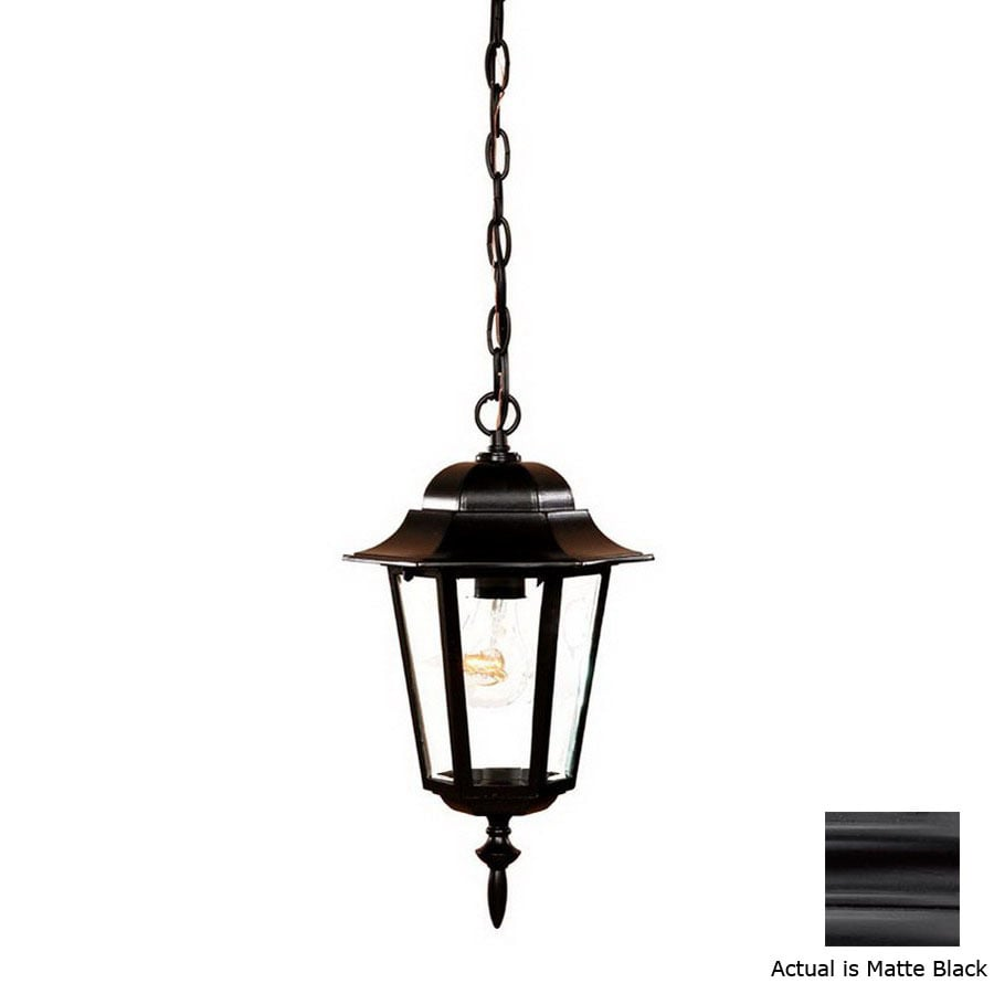 Acclaim Lighting Camelot 15-1/4-in Matte Black Outdoor Pendant Light